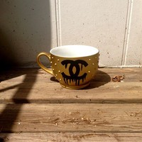 16oz Gold Studded Mug with logo from embri