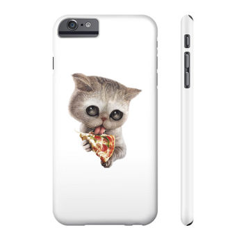 CAT LOVES PIZZA Phone Case