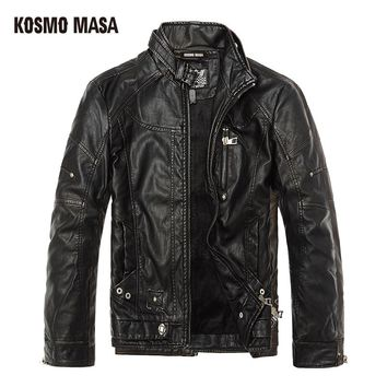 Faux Fur PU leather Jacket for Men Hip Hop Mens Turkey Motorcycle Bikers Slim Black Fit Skin Jackets