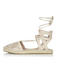 EVE Lazer Two-Part Espadrille - Nude