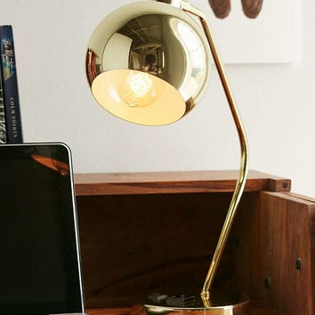 Gumball Desk Lamp - Gold | Urban Outfitters