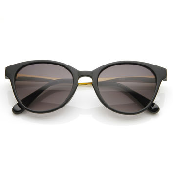 Elegant Designer Metal Arms Fashion Cat Eye Sunglasses 8691