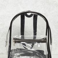 Contrast-Trim Clear Backpack