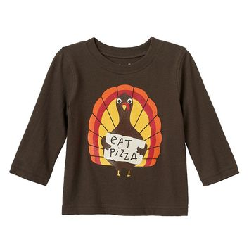 Jumping Beans ''Eat Pizza'' Thanksgiving Turkey Tee - Baby Boy, Size: