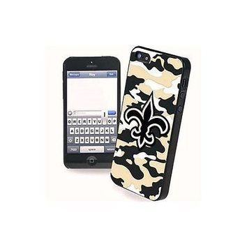 NFL New Orleans Saints Camo Team Logo Apple iPhone 5 5s Hard Cover Snap On Case