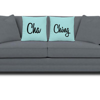 Cha-Ching Pillows - Etsy Seller Pillow - Pillows for Etsy Sellers -Set of 2 Pillows - Cha Ching Gifts - Etsy Seller Gifts