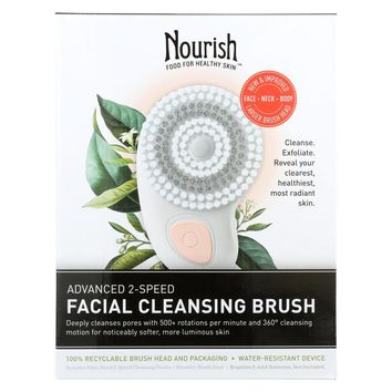 Nourish Facial Cleansing Brush - Advanced 2 Speed - 1 Count
