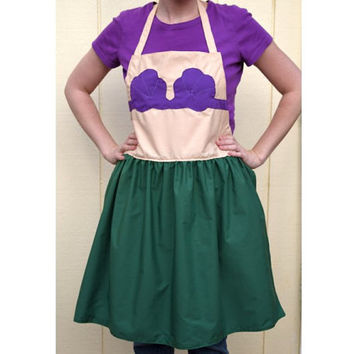 Adult Little Mermaid Dress Up Apron ~  Basic or Decorative Princess Costume Apron for adults