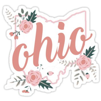'Ohio Floral' Sticker by baileymincer