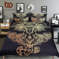 Tribal Elephant Bedding 3pcs Set