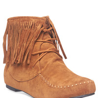 Fringe Moccasin Booties | Wet Seal