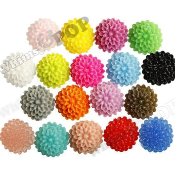 MIXED Color 10mm Tiny Dahlia Flower Cabochons