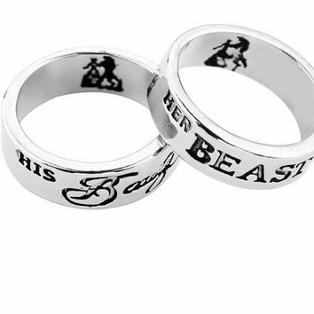 Beauty and the Beast Ring Couple Rings
