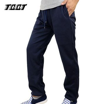 TQQT Overalls Men Elastic Waist Trousers Regular Jogger Panelled Men'S Pants Midweight Sweat Pants Cotton Pants Men 7P0131