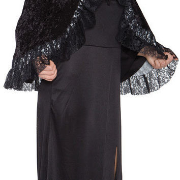 Costume Accessory: Lace Capelet Grey