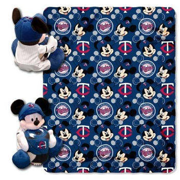 Minnesota Twins MLB Mickey Mouse with Throw Combo
