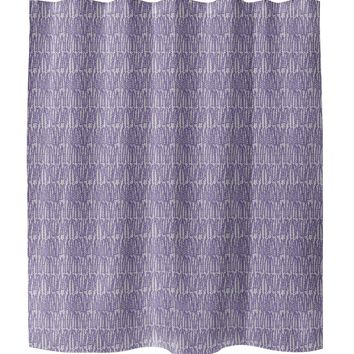 CLUSTER PURPLE Shower Curtain By Tiffany Wong