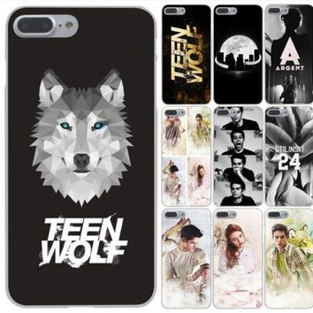 Coque teen wolf Hard Phone Cover Case for iphone 5 6 7 8 plus X