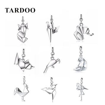 Tardoo DIY Genuine 925 Sterling Silver Pendants Statement Cute Animal Necklace Accessories jewelry Christmas Gift for Women