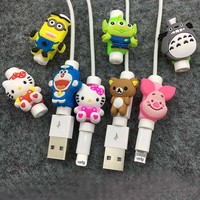 Cartoon Protector For Cable iPhone Cord