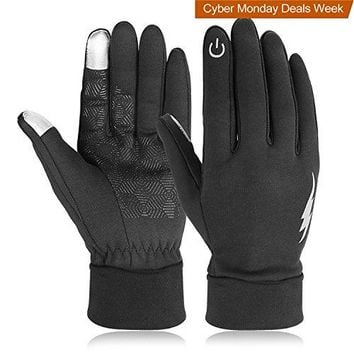 Winter Gloves, HiCool Touch Screen Gloves Driving Gloves Running Cycling Gloves Outdoor Indoor Thermal Warm Gloves for Men and Women