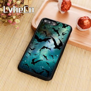 LvheCn Vampire bats stars supernatural Phone Case Cover For iPhone 5s SE 6 6s 7 8 plus 10 X Galaxy S6 S7 edge S8 S9 plus note 8