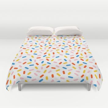Livin' It - abstract pattern minimal modern primary colors pantone gender neutral retro throwback Duvet Cover by Wacka