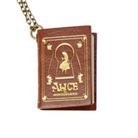 Disney Alice In Wonderland Book Necklace
