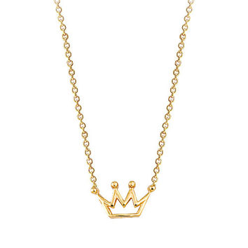 Crown 14k Solid Gold Necklace Best Price