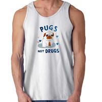 Pugs Not Drugs For Mens Tank Top Fast Shipping For USA special christmas ***
