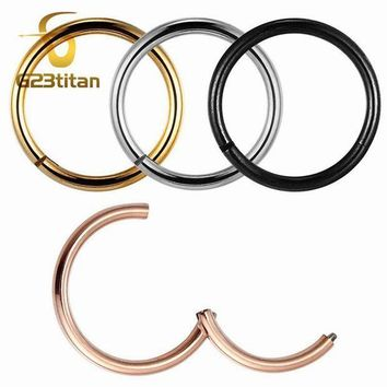 ac PEAPO2Q G23titan Rose Gold Color Septum Rings G23 Titanium Open Small Earrings Women Men Ear Nose Piercing Jewelry