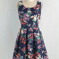 Mid-length Sleeveless Fit & Flare Flower Bed and Breakfast Dress by ModCloth