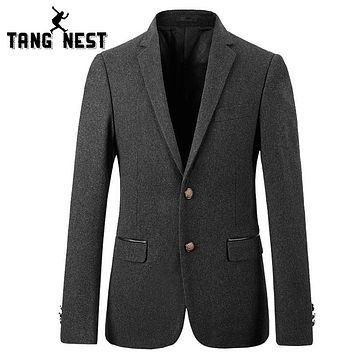 TANGNEST Casual Single Breasted Men Blazer 2018 New Arrival Business Men Blazer Good Quality Fashion Blazer Masculino MWX378