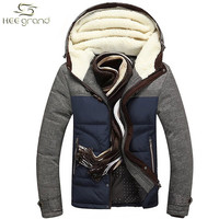 Men Winter Jacket Big Size M-5XL New Arrival Casual Slim Cotton With Hooded Parkas Casaco Masculino MWM1215