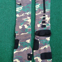 Nike Foamposites Army Camo Custom Nike Elite Socks