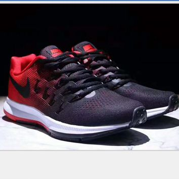 NIKE AlR ZOOM PEGASUS MAN Sport shoes black red H-PSXY