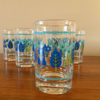 Set of Six Vintage Stetson Marcrest Swiss Alpine Juice Glasses, Marcrest Juice Glasses, Stetson Glasses, Mid Century Glasses, Atomic Glasses