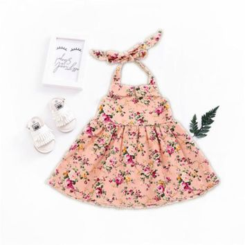 Luciana Floral Backless Dress