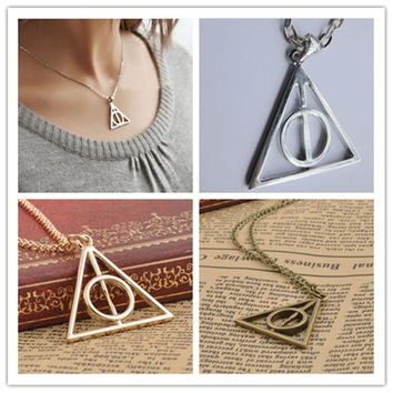 Harry Potter Deathly Hallows Pendant Necklace [7495497799]
