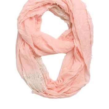 With Love From CA Lace Inset Scarf - Womens Scarves -