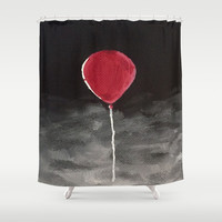 We All Float Down Here Shower Curtain by Sierra Christy Art