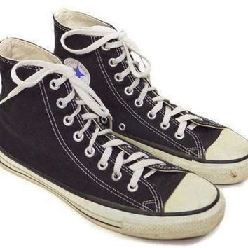 CREYON vintage 90s converse all star chuck taylor black high tops sneakers shoes sz 9