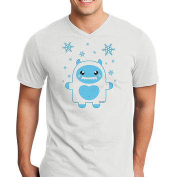 Cute Abominable Snowman Boy Yeti - Christmas Adult V-Neck T-shirt