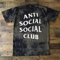 Anti Social Social Club Olive Camo Tee Shirt Bleached ASSC T-Shirt Kanye West Yeezy Me