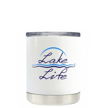 Lake Life on White 10 oz Lowball Tumbler