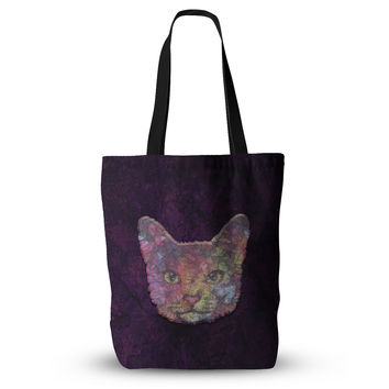 "Ancello ""Rainbow Cat"" Pastel Purple Everything Tote Bag"