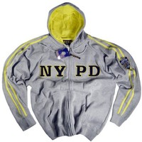 NYPD Shirt Hoodie Sweatshirt Authentic Clothing Apparel Officially Licensed Merchandise by The New York City Police Department Embroidered Letters and Logo Gray