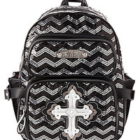 Miss Me Back to Cool Sequin Chevron Print Backpack