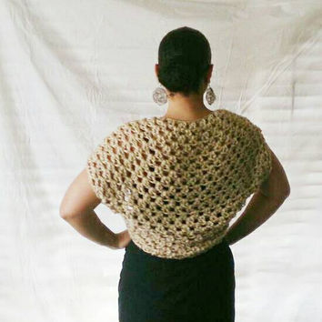 Bolero shrug, Summer lace shawl,  Capped sleeve bridal shrug -  Bridal shawl-  Lace top, Shrug sweater