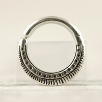 Septum Ring Nose Ring Body Jewelry Sterling Silver Bohemian Fashion Indian Style 14g 16g - SE023R SS